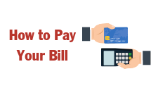 Icon that says How to Pay Your Bill. It is used on the website as a button for finding instructions on ways to pay your electric bill.