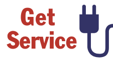 "This is an icon that says, ""Get Service"" and shows a two prong plug. It serves as a hotlink button to click you through to the application for new service with Tri-County Electric."